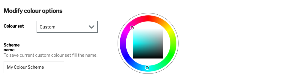 Example of naming and adding a new colour scheme to the colour set
