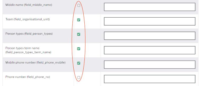 Empty profile configuration screen