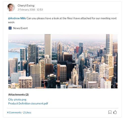 OneDrive post example