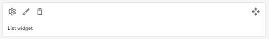 Bin icon to delete unwanted widgets