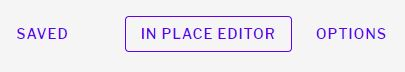 In Place Editor button